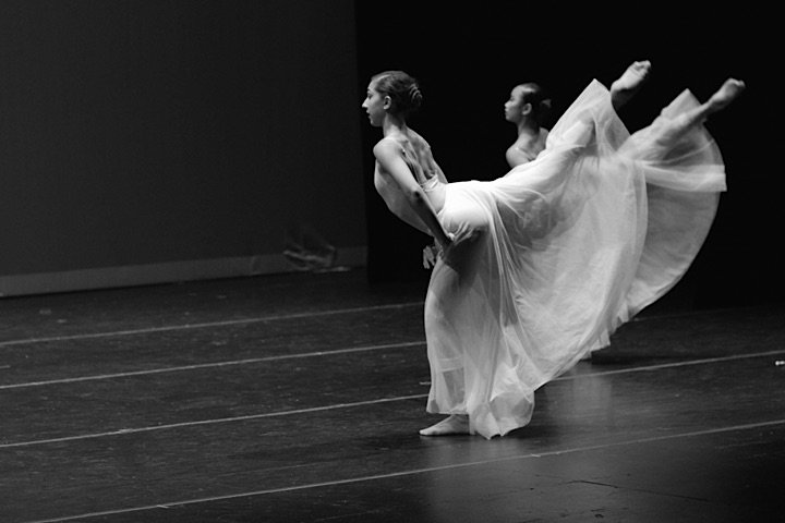 "Advanced dance studio students performing during our summer dance program ""Performance Intensive"""